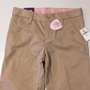 Girls Gap Boot Cut Chino Uniform Khaki Pants